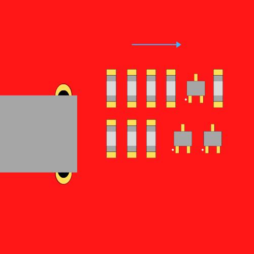 Dobra orientacja komponentów układu scalonego