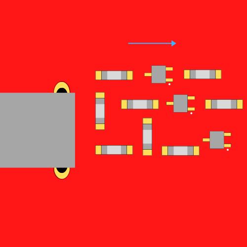Nieprawidłowa orientacja komponentów układu scalonego